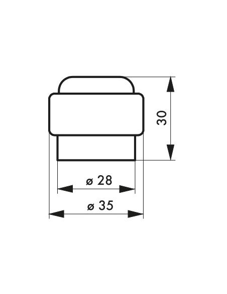 Butoir à visser, fixation au sol, plastique, Ø35x30mm - THIRARD Equipement