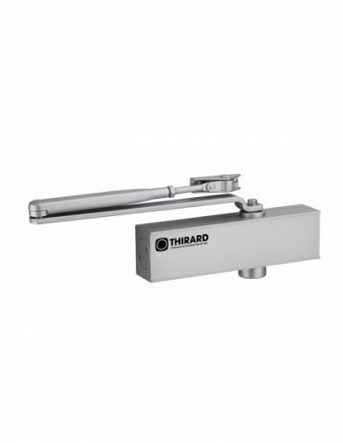 Ferme-porte automatique hydraulique Design force 2 à 4, argent - THIRARD Equipement