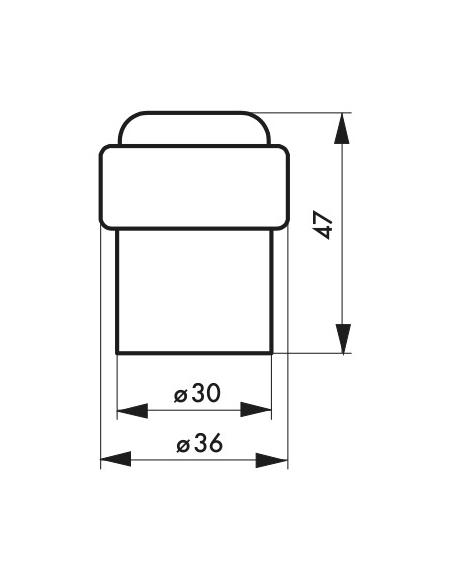 Butoir à visser, fixation au sol, aluminium, Ø38x34,5mm, argent - THIRARD Equipement