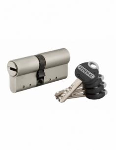 Cylindre de serrure double entrée Federal 2, 30x40mm, nickel, anti-arrachement, anti-perçage, 4 clés - THIRARD Cylindre de se...