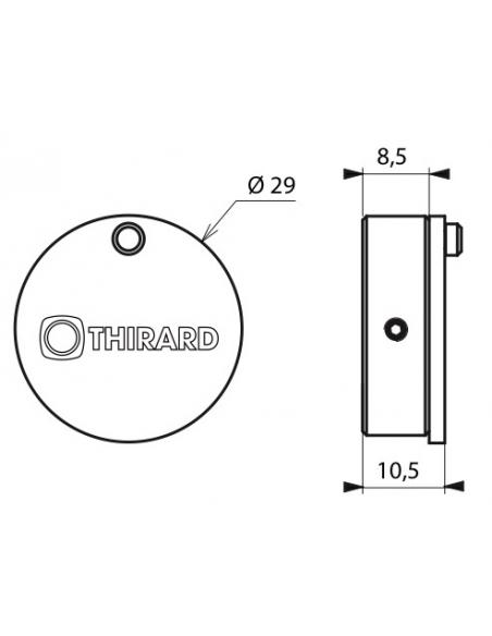 Obturateur pour cylindre européen, Ø 29mm, laiton chromé - THIRARD Cylindre de serrure
