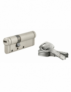 Cylindre de serrure Trafic 12, 30x60mm, nickel, anti-arrachement, anti-perçage, anti-casse, 5 clés - THIRARD Cylindre de serrure