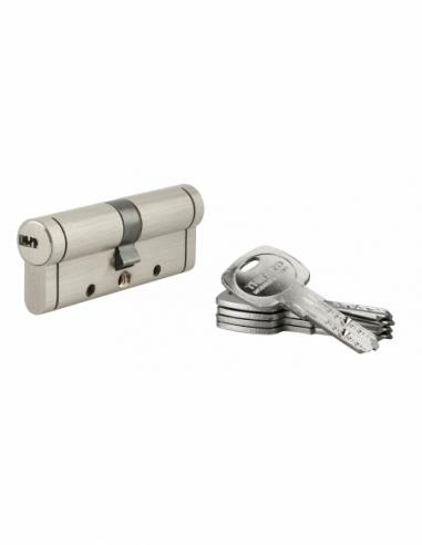 Cylindre de serrure Trafic 12, 40x40mm, nickel, anti-arrachement, anti-perçage, anti-casse, 5 clés - THIRARD Cylindre de serrure