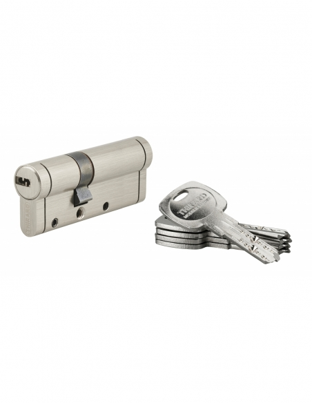 Cylindre de serrure Trafic 12, 30x50mm, nickel, anti-arrachement, anti-perçage, anti-casse, 5 clés - THIRARD Cylindre de serrure
