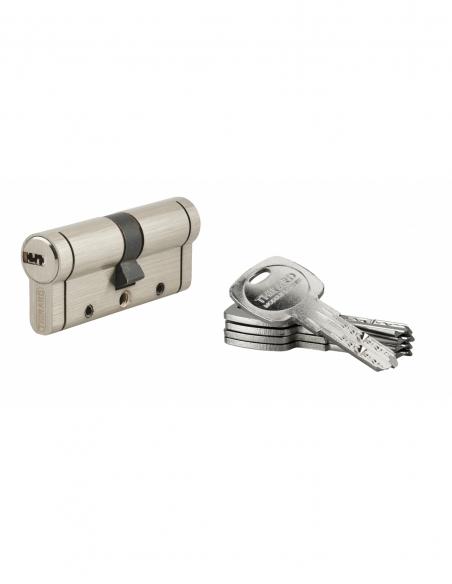 Cylindre de serrure Trafic 12, 35x35mm, nickel, anti-arrachement, anti-perçage, anti-casse, 5 clés - THIRARD Cylindre de serrure