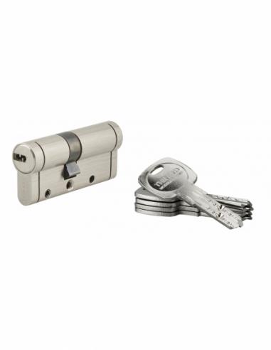 Cylindre de serrure Trafic 12, 30x40mm, nickel, anti-arrachement, anti-perçage, anti-casse, 5 clés - THIRARD Cylindre de serrure