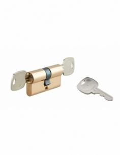 Cylindre de serrure double entrée, 35x35mm, débrayable, anti-arrachement, laiton, 3 clés - THIRARD Cylindre de serrure