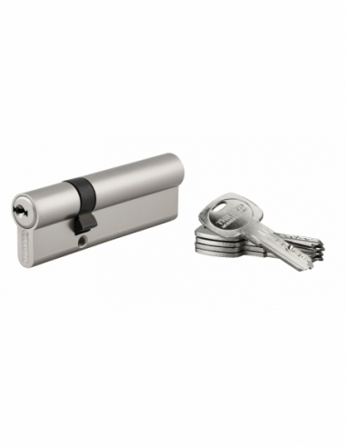 Cylindre de serrure double entrée Trafic 6, 30x65mm, nickel, anti-arrachement, anti-perçage, 5 clés - THIRARD Cylindre de ser...