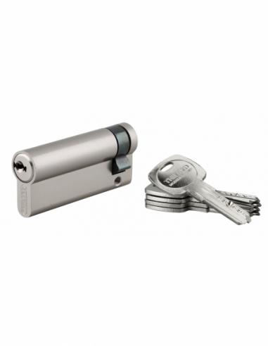 Demi-cylindre de serrure Trafic 6, 60x10mm, nickel, anti-arrachement, anti-perçage, 5 clés - THIRARD Cylindre de serrure