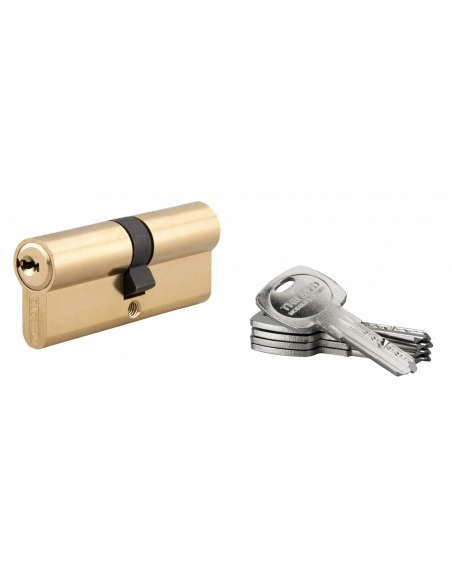 Cylindre de serrure double entrée Trafic 6, 40x40mm, anti-arrachement, anti-perçage, laiton, 5 clés - THIRARD Cylindre de ser...