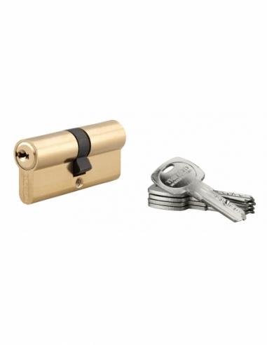 Cylindre de serrure double entrée Trafic 6, 35x35mm, anti-arrachement, anti-perçage, laiton, 5 clés - THIRARD Cylindre de ser...