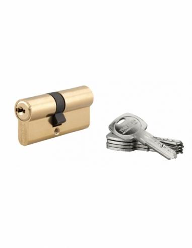 Cylindre de serrure double entrée Trafic 6, 30x40mm, laiton, anti-arrachement, anti-perçage, 5 clés - THIRARD Cylindre de ser...