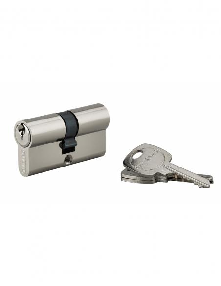 Cylindre 30 x 30 mm panneton ESP 3 clés nickelé - THIRARD Cylindre de serrure