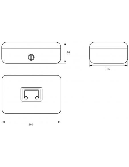 Caissette à monnaie, serrure à cylindre, 2 clés, largeur 200mm - THIRARD Coffre fort