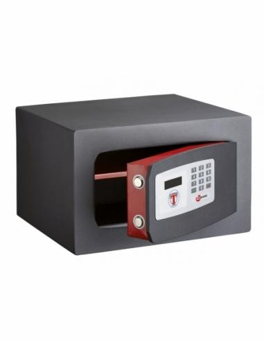 Coffret de sécurité à poser Edimbourg, fermeture électronique à code, 2 pênes, 17L - THIRARD Coffre fort