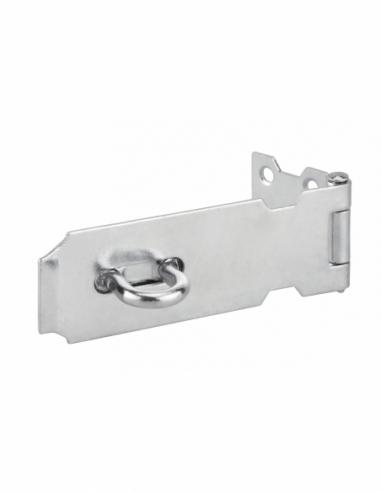 Porte cadenas pour fermeture de coffre et porte, 125mm, acier, zingué - THIRARD Cadenas