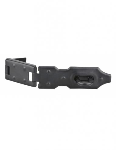 Porte-cadenas à recouvrement pour coffre et porte, acier, 120mm, zingué - THIRARD Cadenas