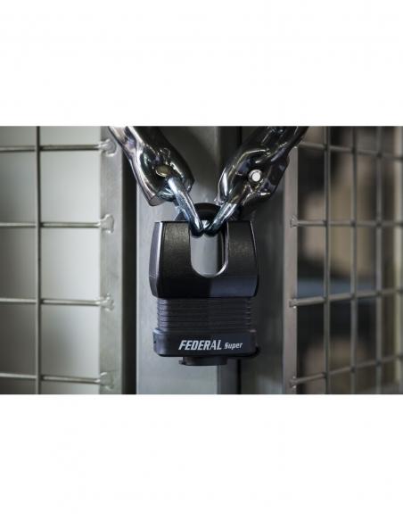 Cadenas à clé Fédéral Lock Docker, extérieur, acier cémenté, double verrouillage, 65mm, 2 clés - THIRARD Cadenas