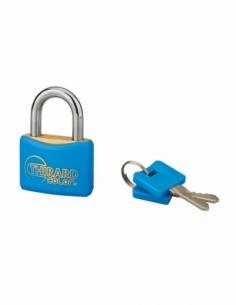 Cadenas à clé Mach, laiton, extérieur, anse acier, 40mm, 2 clés - THIRARD Cadenas