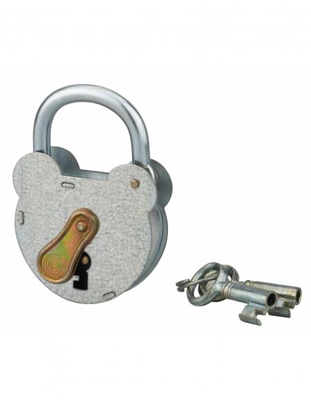 Cadenas à clé 2493, acier, extérieur, anse zinguée, 55mm, 2 clés - THIRARD Cadenas