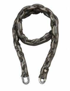 Chaîne acier cémenté zingué Loops, vélo, barrières, Ø 8mm, 1.2m, gaine PVC - THIRARD Antivol