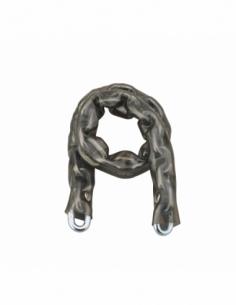 Chaîne acier cémenté zingué Loops, vélo, barrières, Ø 6mm, 0.6m, gaine PVC - THIRARD Antivol