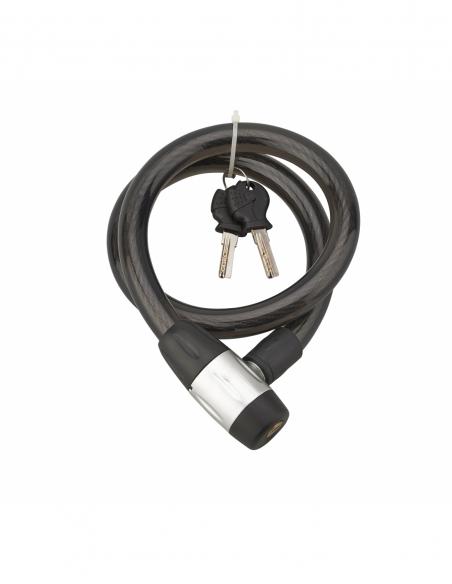 Antivol à clé Scorp, câble acier, moto, 15mmx0.85m, 2 clés, noir - THIRARD Antivol