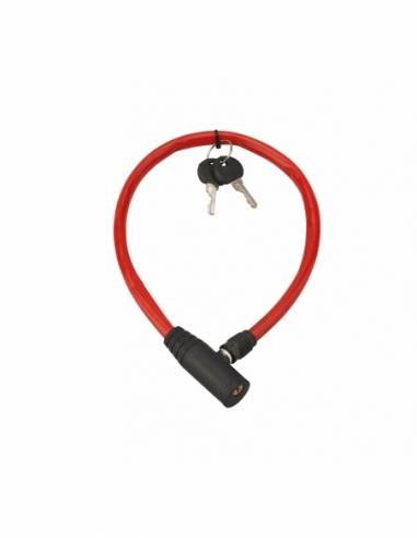 Antivol à clé Twisty, câble acier, vélo, 5mmx0.5m, 2 clés - THIRARD Antivol
