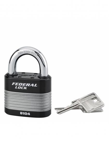 Cadenas à clé Fédéral Lock Protector, extérieur, acier, double verrouillage, 63mm, 2 clés - THIRARD Cadenas
