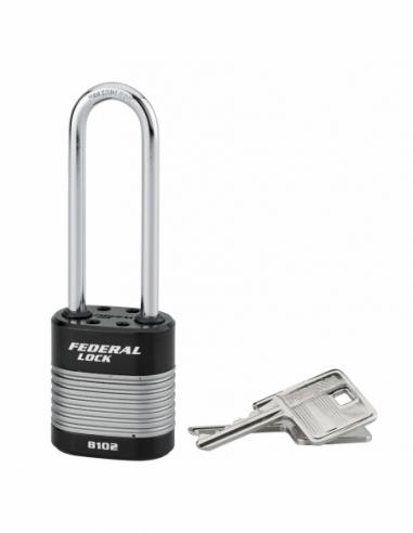 Cadenas à clé Fédéral Lock Protector, extérieur, acier, anse haute, double verrouillage, 44mm, 2 clés - THIRARD Cadenas