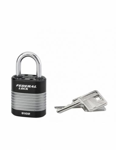 Cadenas à clé Fédéral Lock Protector, extérieur, acier, double verrouillage, 44mm, 2 clés - THIRARD Cadenas