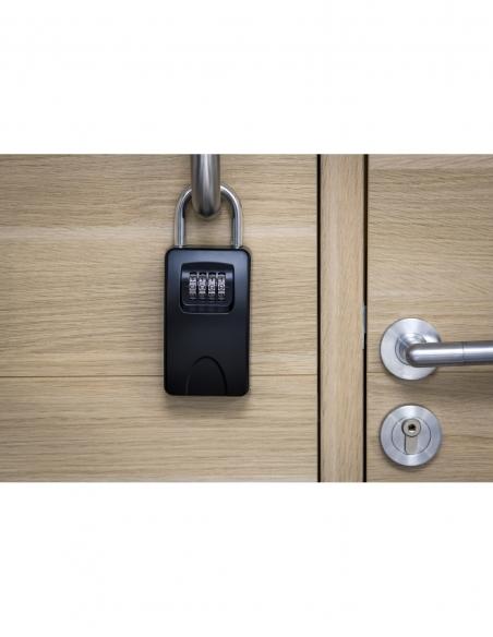 Boite à clé à combinaison, 4 chiffres, acier, 47x75mm, avec anse, noir - THIRARD Boîte à clés