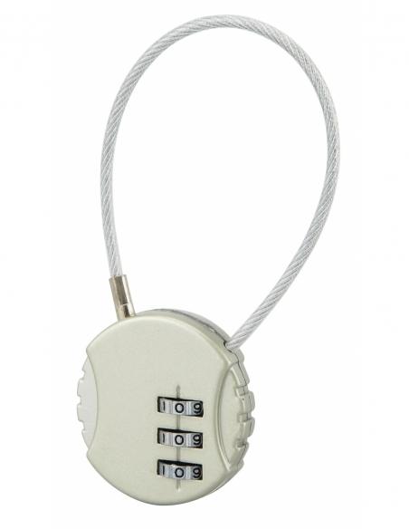 Cadenas à combinaison Fantasy Rond, 3 chiffres, intérieur, cable acier - THIRARD Cadenas