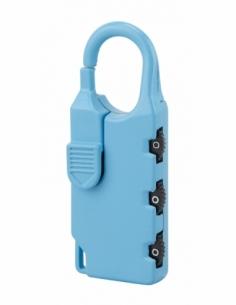Cadenas à combinaison Nomad rectangle, 3 chiffres, intérieur, anse acier, 30mm - THIRARD Cadenas