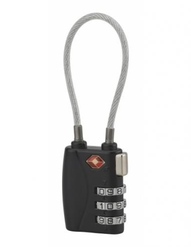 Cadenas à combinaison TSA à cable, 3 chiffres, voyage, 30mm - THIRARD Cadenas