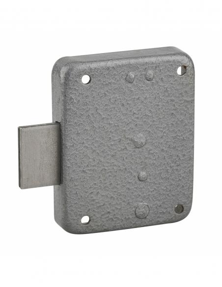 Serrure de meuble Paris pour porte d'ameublement, gauche, axe 35mm, 60x70mm, gris, 1 clé - THIRARD Serrure de meuble