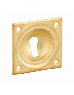 Entrée à cuvette trou de clé, 60x60mm, laiton chromé - THIRARD Poignée