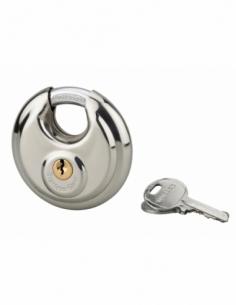 Cadenas à clé Astra, inox, intérieur, anse acier, 70mm, 2 clés - THIRARD Cadenas