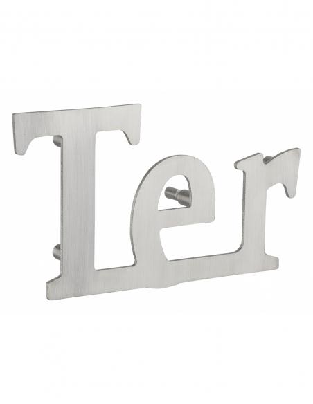 Lettre TER inox H.76mm adhésif - THIRARD Equipement