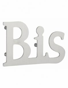 Lettre BIS inox H.76mm adhésif - THIRARD Equipement