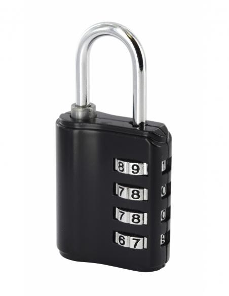 Cadenas à combinaison Compact 04 sur clé passe, 4 chiffres, intérieur, anse acier, 40mm, noir - THIRARD Cadenas
