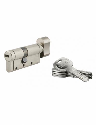 Cylindre de serrure à bouton Trafic 12, 40Bx30mm, nickel, anti-arrachement, anti-perçage, anti-casse, 5 clés - THIRARD Cylind...