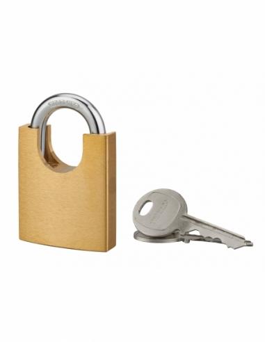 Cadenas Shoulder à clé, laiton, extérieur, 50mm, 2 clés - THIRARD Cadenas