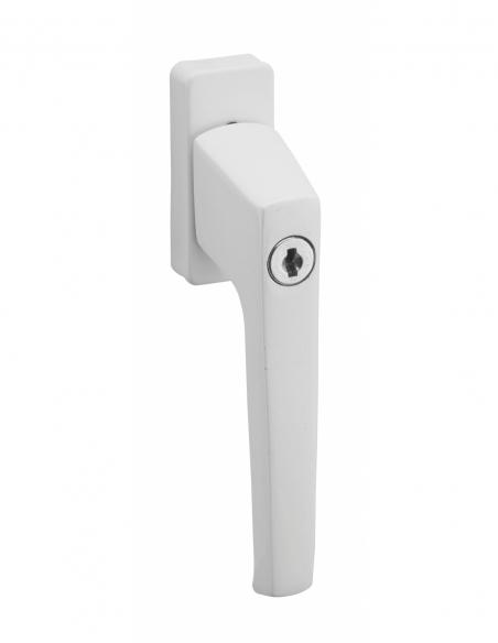 Béquille à clé pour fenêtre, avec vis de pose, blanc, 1 clé - THIRARD Poignée