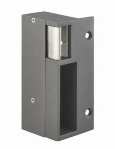 Gâche électrique pour serrure verticale en applique, gauche, 12/24V, gris - THIRARD Gâche de porte