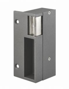 Gâche électrique pour serrure verticale en applique, droite, 12/24V, gris - THIRARD Gâche de porte