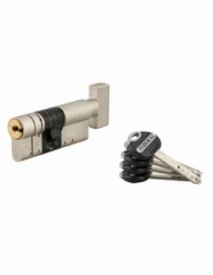 Cylindre de serrure à bouton Federal 2, 32Bx42mm, nickel, anti-arrachement, anti-perçage, 5 clés - THIRARD Cylindre de serrure