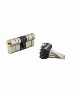 Cylindre de serrure double entrée Federal 2, 42x42mm, nickel, anti-arrachement, anti-perçage, 5 clés - THIRARD Cylindre de se...
