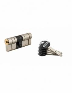 Cylindre de serrure double entrée Federal 2, 37x45mm, nickel, anti-arrachement, anti-perçage, 5 clés - THIRARD Cylindre de se...
