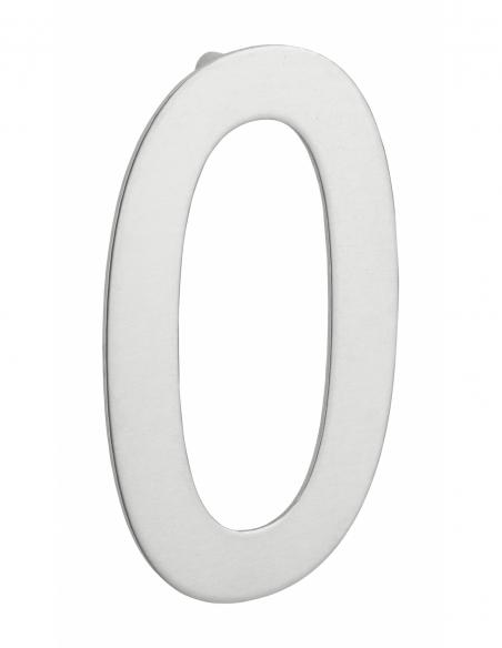 Chiffre 0 à visser, inox, H.100mm - THIRARD Signalétique